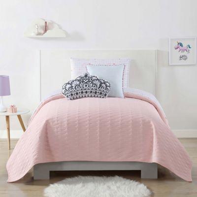 Elegant Laura Hart Kids Jersey Full/Queen Quilted Blanket In Pink