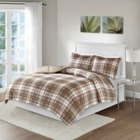 Madison Park Essentials Parkston King/Cal King Comforter Set in Tan