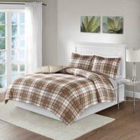 Madison Park Essentials Parkston Full/Queen Comforter Set in Tan