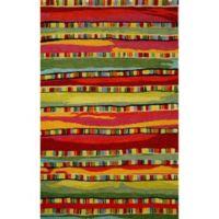 Trans-Ocean Seville Mosaic Stripe 5-Foot x 8-Foot Rug in Fiesta