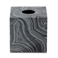 Roselli Trading Cleo Tissue Box Cover in Black/White