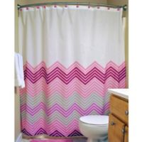 Design Imports 14-Piece Chevron Bath Set in Pink
