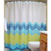 Design Imports 14-Piece Chevron Bath Set in Blue