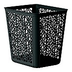 4-Gallon Trellis Wastebasket in Black