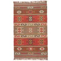 Jaipur Bedouin Thebes Deep Rust Tribal 4-Foot x 6-Foot Rug