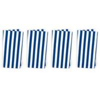 Caskata Beach Towel Stripe Napkins in Blue/White (Set of 4)
