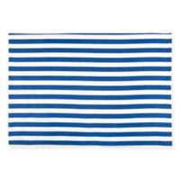 Caskata Beach Towel Stripe Placemats in Blue/White (Set of 4)