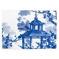 Caskata Flowering Quince Placemats in Blue/White (Set of 4)