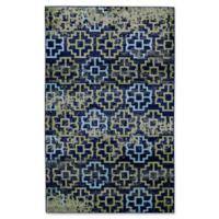 Feizy Aileen Abstract Geometric 8-Foot x 10-Foot Area Rug in Green/Navy
