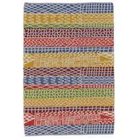 Feizy Bashia Rainbow Stripe 2-Foot x 3-Foot Multicolor Accent Rug