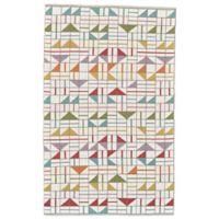 Feizy Bashia Geometric 2-Foot x 3-Foot Multicolor Accent Rug