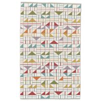 Feizy Bashia Geometric 5-Foot x 8-Foot Multicolor Area Rug
