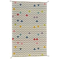 Feizy Bashia Triangles 2-Foot x 3-Foot Accent Rug in Grey Multi