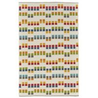 Feizy Bashia Rows 2-Foot x 3-Foot Multicolor Accent Rug