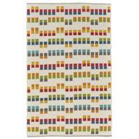 Feizy Bashia Rows 8-Foot x 10-Foot Multicolor Area Rug