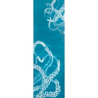 Nuloom Octopus Tail 2-Foot 6-Inch x 8-Foot Runner in Blue