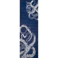 Nuloom Octopus Tail 2-Foot 6-Inch x 8-Foot Runner in Navy