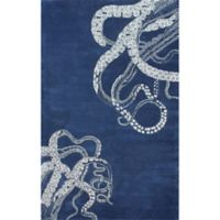 Nuloom Octopus Tail 7-Foot 6-Inch x 9-Foot 6-Inch Area Rug in Navy