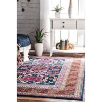 nuLOOM Tribal Marisela 5-Foot x 7-Foot 5-Inch Area Rug in Navy