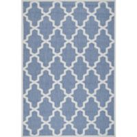 nuLOOM Gina Moroccan Trellis 7-Foot 6-Inch x 10-Foot 9-Inch Indoor/Outdoor Area Rug in Blue