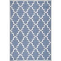 nuLOOM Gina Moroccan Trellis 8-Foot 6-Inch x 13-Foot Indoor/Outdoor Area Rug in Blue