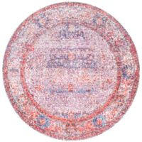 nuLOOM Elmer Vintage Medallion 5-Foot 3-Inch Round Area Rug in Blush