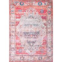nuLOOM Elmer Vintage Medallion 9-Foot x 12-Foot Area Rug in Blush
