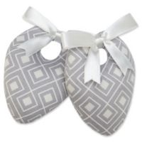 Protect My Shoes Women's ShoeStuffers in Grey Chevron (Set of 2)