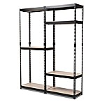 Baxton Studio Gavin Metal 7-Shelf Closet Storage Organizer in Black