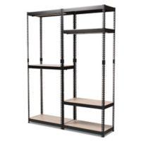 Baxton Studio Gavin Metal 7-Shelf Closet Storage Organizer in Black