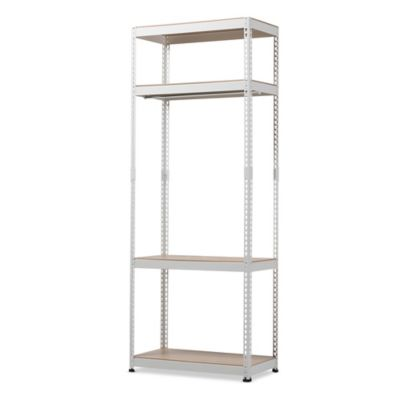 Baxton Studio Gavin Metal 4 Shelf Closet Storage Organizer In White