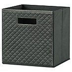 Real Simple® 10.5-Inch x 11-Inch Quilted Velvet Fabric Drawer in Charcoal