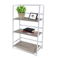 3-Tier Folding Shelf in White