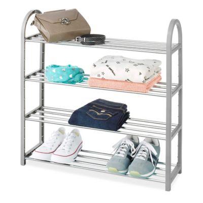 whitmor 4tier compact closet shelves in grey