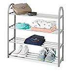 Whitmor 4-Tier Compact Closet Shelves in Grey