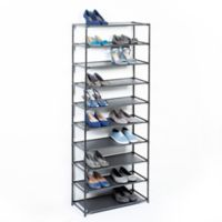 Studio 3B™ 10-Tier Fabric Shoe Rack in Black