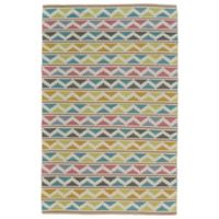 Feizy Bashia Southwest 2-Foot x 3-Foot Accent Rug in Turquoise/Lime