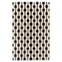 Feizy Noemie 5-Foot x 8-Foot Area Rug in White/Black