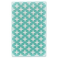 Feizy Aubrey 5-Foot x 8-Foot Area Rug in Turquoise/White