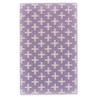 Feizy Aubrey 5-Foot x 8-Foot Area Rug in Lavender/White