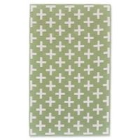 Feizy Aubrey 5-Foot x 8-Foot Area Rug in Green/White
