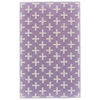 Feizy Aubrey 8-Foot x 10-Foot Area Rug in Lavender/White