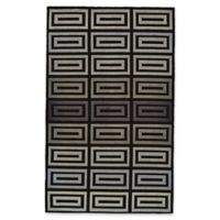 Feizy Aubrey Geometric 5-Foot x 8-Foot Area Rug in Grey/Black