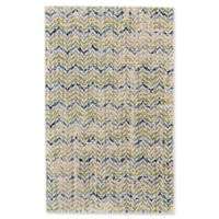 Feizy Aileen Chevron 5-Foot 2-Inch x 8-Foot Area Rug in Green/Cream