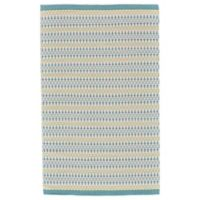 Feizy Naim Diamond 2-Foot x 3-Foot Accent Rug in Turquoise/Lime