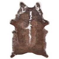 Feizy Rugs Santa Clara 3-Foot 10-Inch x 5-Foot Area Rug in Brown