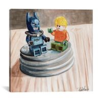 iCanvas Heroes Chillin' 18-Inch Square Canvas Wall Art