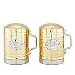 Old Dutch International Hammered Décor Salt and Pepper Set in Champagne