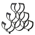 Old Dutch International 6-Bottle Wine Rack in Matte Black