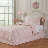 Lullaby Bedding Ballerina 2-Piece Twin Quilt Set in Pink/White